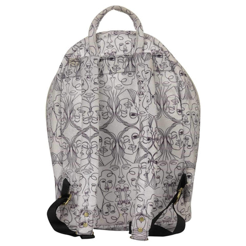 Black and White Backpack - backpack - Gonecase
