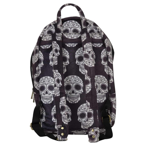 Skull Printed Backpack ,backpack, gonecasestore - gonecasestore