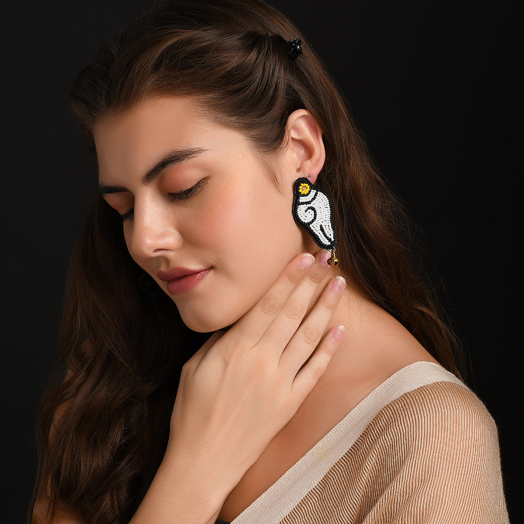 Shankh Earrings ,Earrings, gonecasestore - gonecasestore