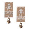 Image of Warli Hand Painted Studs ,Earrings, GoneCase - gonecasestore