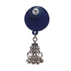 Image of Round Blue Jhumki Earrings ,Earrings, GoneCase - gonecasestore