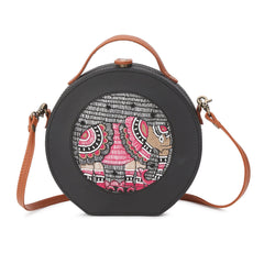 Elephant Embroidery Sling Bag
