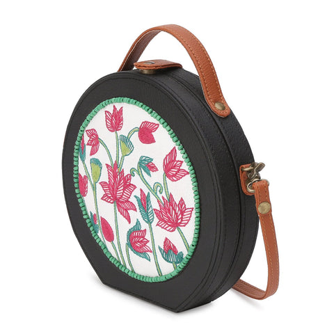 Pichwai Embroided Sling Bag ,sling bag, gonecasestore - gonecasestore
