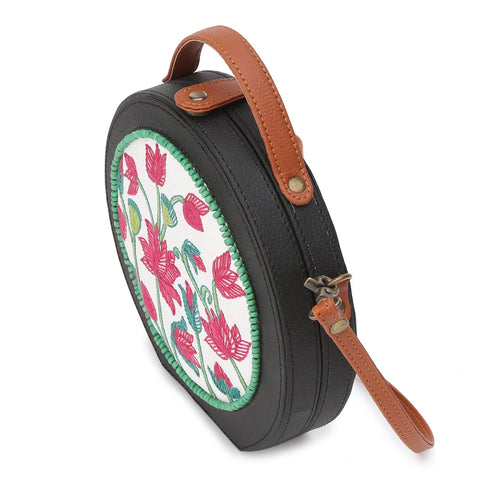 Pichwai Embroided Sling Bag