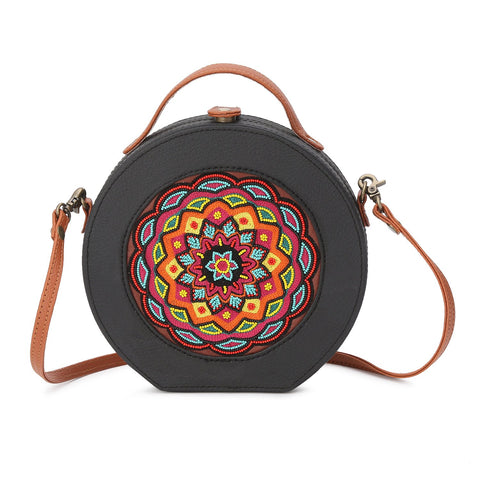Mandala Embroidery Sling Bag