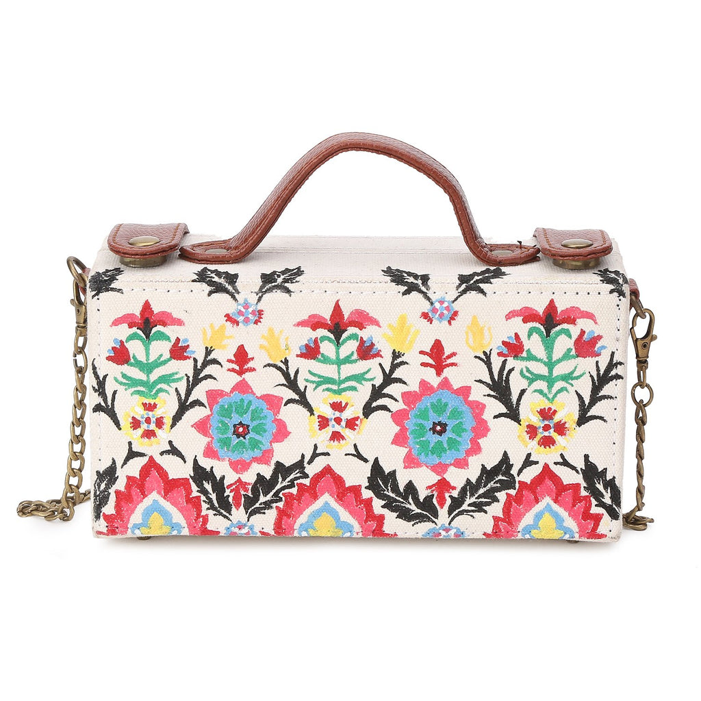Handpainted Floral Clutch Bags ,, gonecasestore - gonecasestore
