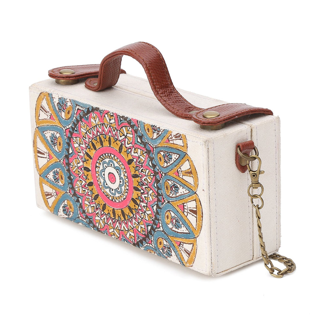 Mandala Handpainted Clutch Bag ,, gonecasestore - gonecasestore