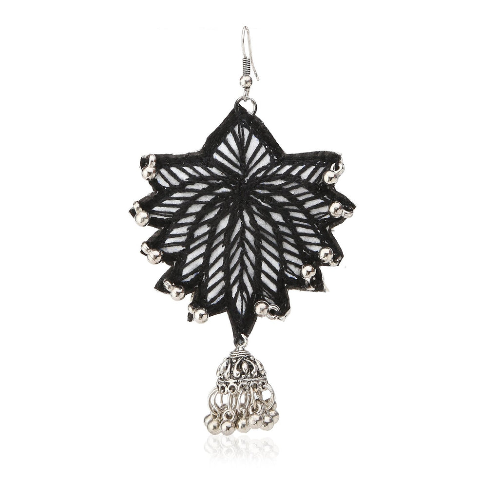 Black Lotus Handcrafted Earrings ,Earrings, gonecasestore - gonecasestore