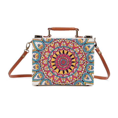 Mandala Handpainted Sling Bag