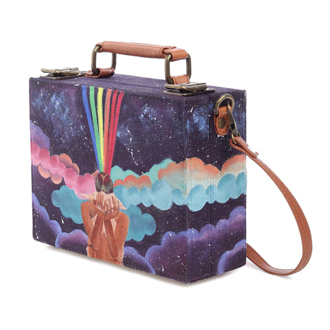 Mishi Handpainted Clutch Bag ,Clutch Bag, gonecasestore - gonecasestore