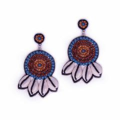 Wood Embroidery Earrings - gonecasestore