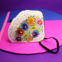 Spring Season Embroidered Mask
