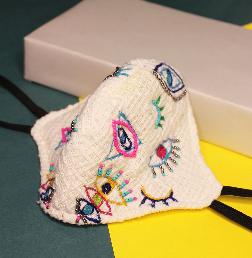 Quirky hand embroidered Mask ,, gonecasestore - gonecasestore