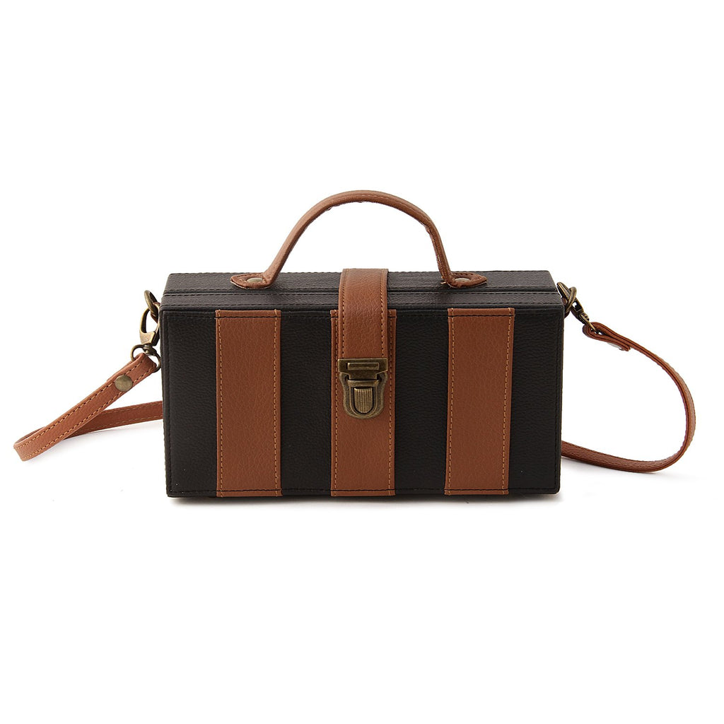 Basic Black and Brown Clutch Bag ,sling bag, gonecasestore - gonecasestore