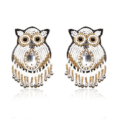 Owly Embroidered Earrings