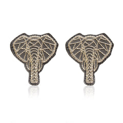 Elephant Silver Zari Handcrafted Earrings