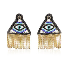 Illuminati Embroidered Earrings