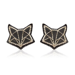 Fox Silver Zari Earrings