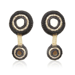 Sheeshe Ka Dil Embroidered Earrings
