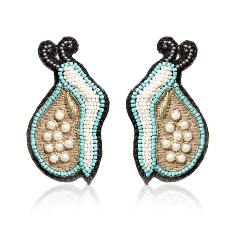 Snail Embroidered Earrings - gonecasestore