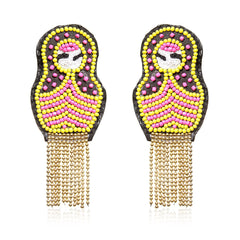 Yellow Russian Doll Earrings