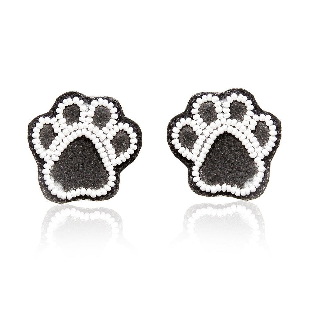 Paw Embroidered Earrings ,Earrings, gonecasestore - gonecasestore