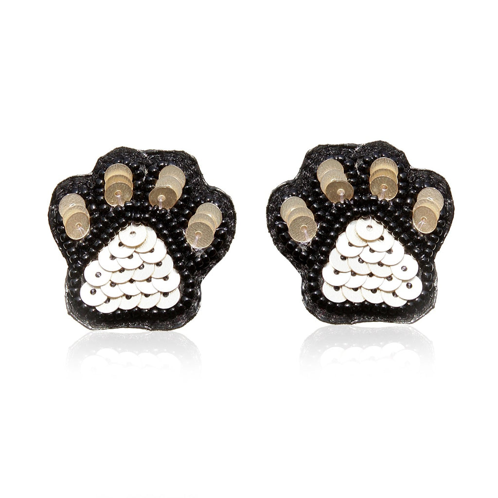 Paw Paw Embroidered Earrings ,Earrings, gonecasestore - gonecasestore