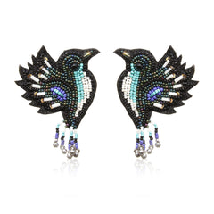Birdie Embroidered Earrings