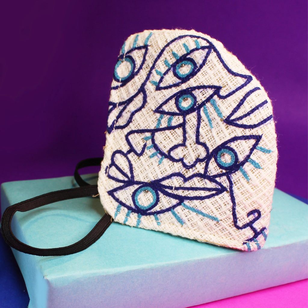 Modern Art Embroidered Mask ,sling bag, gonecasestore - gonecasestore