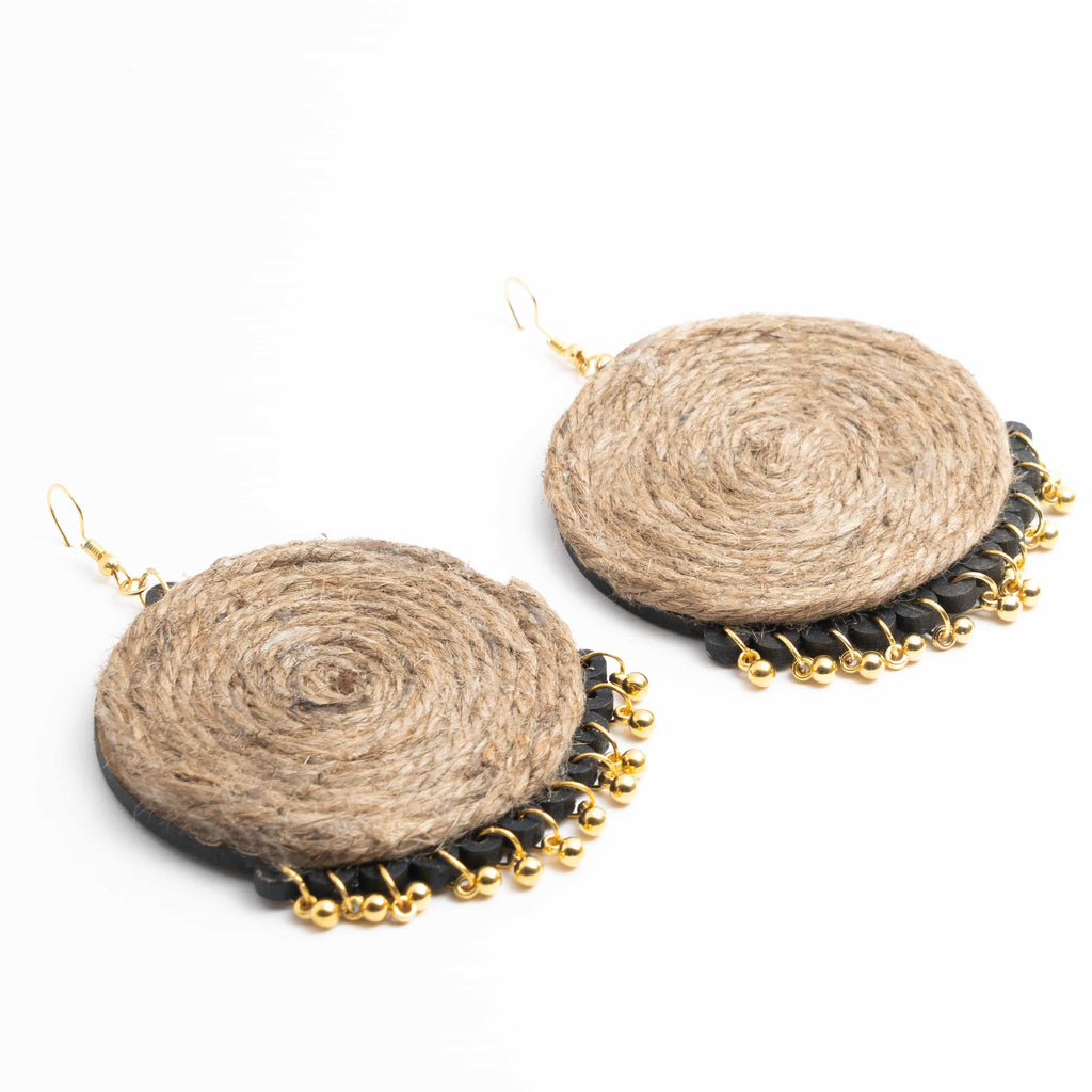 Jute Earrings ,Earrings, gonecasestore - gonecasestore