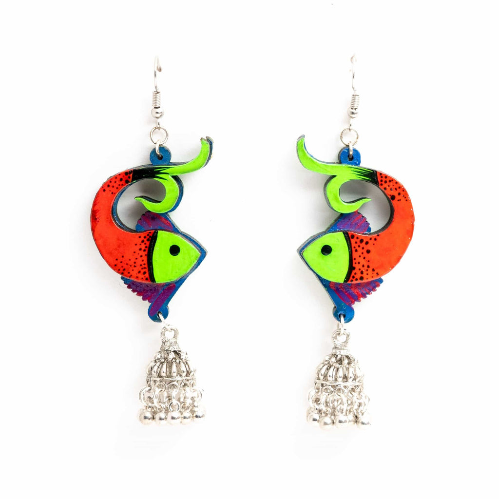Hand Painted Fish Earring