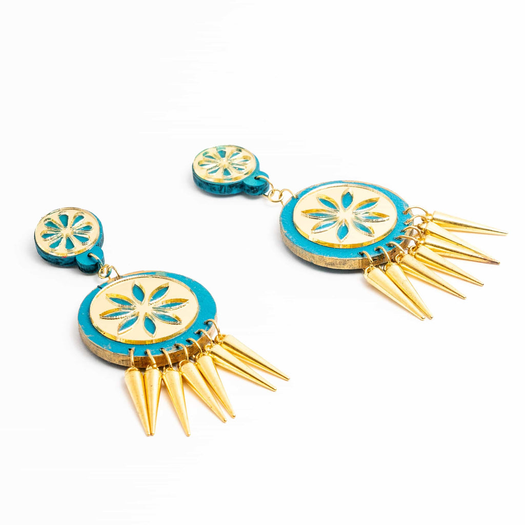 Handpainted Spike Earrings - gonecasestore