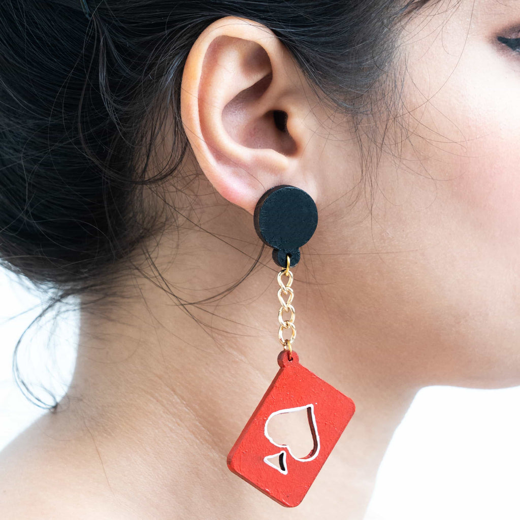 Poker Earrings ,Earrings, gonecasestore - gonecasestore