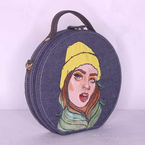 Bad Girl Handpainted Sling Bag