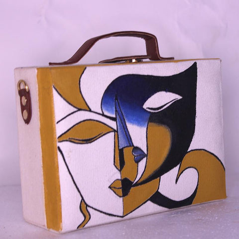 Two Faces Handpainted Sling Bag