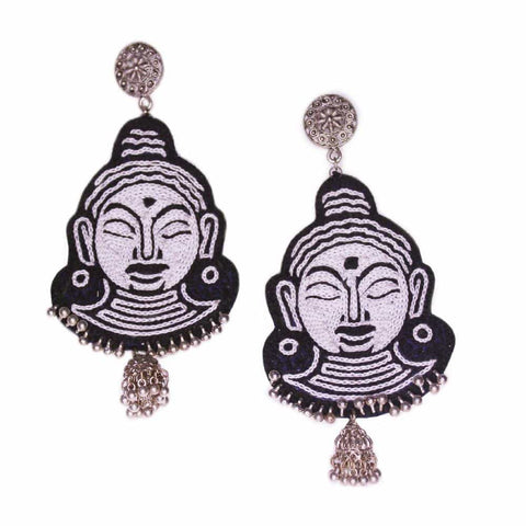 Budha Embroidery Earrings