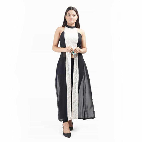 Long Tunic Chikan Work by Gonecase - [product_type] - Gonecase