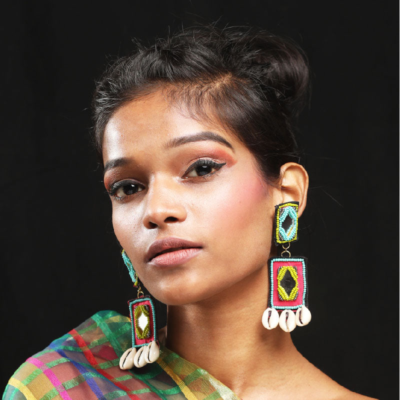 Kasak Hand embroidered Earrings by Gonecase