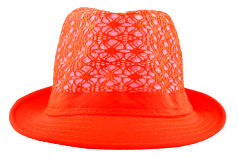FabSeasons Orange Fedora Hat for Women