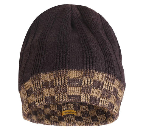 FabSeasons Acrylic Brown Woolen Skull Cap with Fleece lining for extra protection