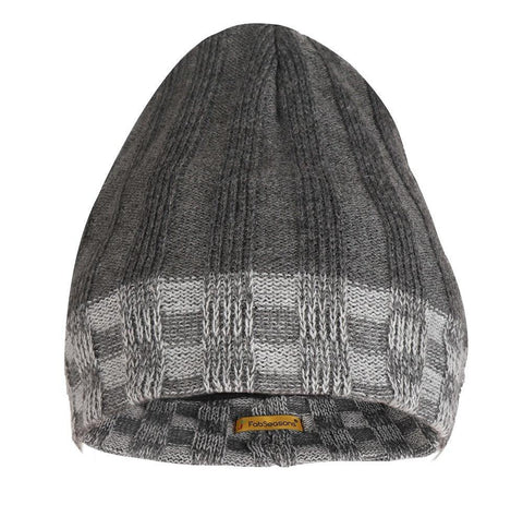 FabSeasons Acrylic Grey Woolen Skull Cap with Fleece lining for extra protection