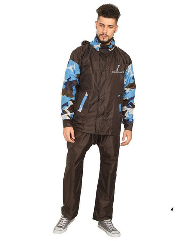 Fabseasons  Skyblue High Quality Raincoat with Hood & Reflector for Night visibility
