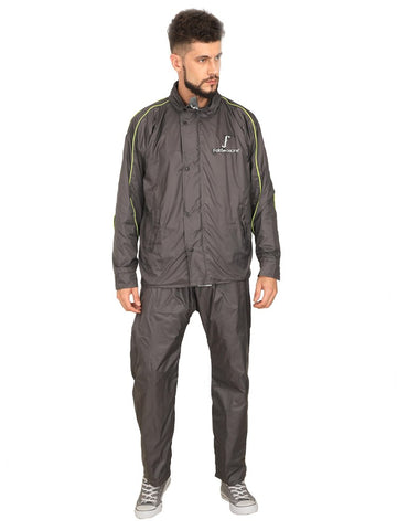 Nylon 100% Waterproof Reversible Raincoat with Adjustable Hood and Reflector at Back for Night visibility