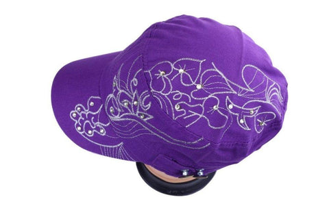 Purple Cap with embroidery