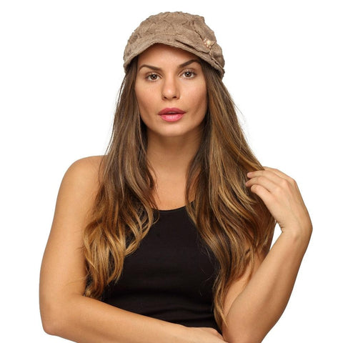 Fabseasons Tan Foldable Cotton Fancy Cap