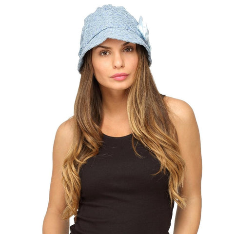 Fabseasons Blue Ribbon Cloche for Women