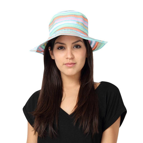 Fabseasons Multicolor Beach Hat For Women
