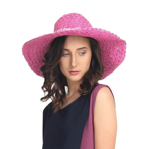 Fabseasons Pink Beach Hat For Women