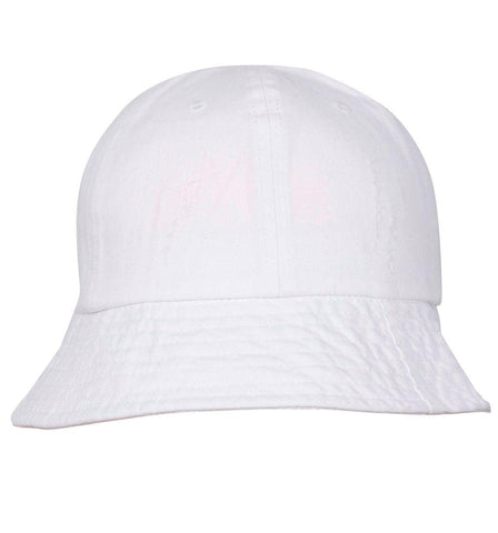 FabSeasons Simple Unisex Foldable Washed White Cotton Bucket Hat & Cap