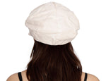 Cotton Linen Short Peak Summer Fashion Cap for Girls and Women-CL81B